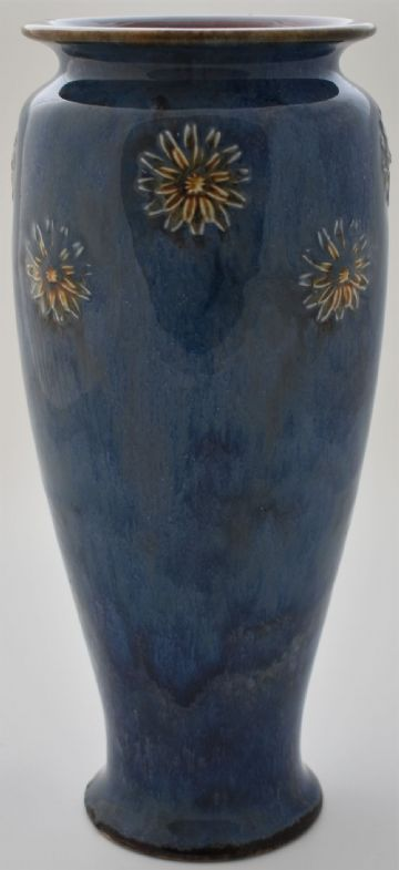Royal Doulton Stoneware Vase With Art Nouveau Design
